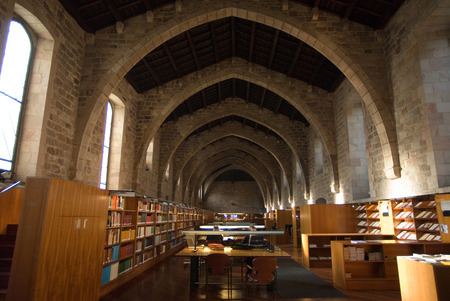 josep: Josep Laporte Library in Santa Creu y Sant Pau Hospital, Barcelona. In the Middle Ages, Barcelona became the Ciutat Comtal (Count's City) and its political importance increased. It became the seat of the main political institutions in Old Catalonia and