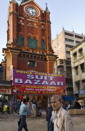 funded: India, West Bengal, Kolkata, Chowringhee, Lindsay Street, New Market, clock tower. Kolkata, West Bengal, India. Clock tower of Magen David Synagogue, Calcutta Located on Jewish Synagogue Street, this is the oldest synagogue of Calcutta. Funded by Elias Da Editorial