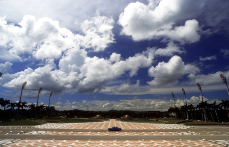 depictions: Landscape in Che Guevara Monument, Santa Clara, Cuba, Caribbean, Central America. Santa Clara grand Plaza Che Monument Villa Clara Cuba.