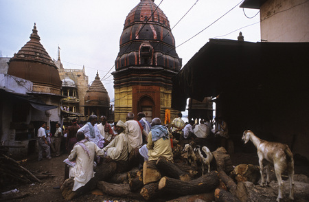 crematorium: Asia India Uttar Pradesh Varanasi Manikarnika Ghat used for Hindu cremation ceremonies. Varanasi, Uttar Pradesh, India. Manikarnika Ghat has a great significance not only in Hindu mythology and way of life but also in the philosophies of life and death. M