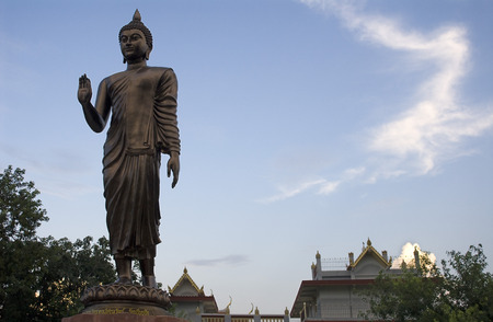 gaya: Bodhgaya, Bihar, India. Bronze Budda This Budda was donated to Bodhgaya by the Vietnamese Buddists. Bodh Gaya is the birthplace of Buddhism. Buddhists from all over the world are drawn to Bodh Gaya in the state of Bihar. This is the place where Lord Buddh