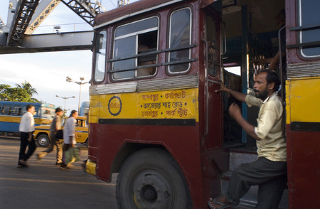 urban centers: Kolkata, West Bengal, India. Kolkata bus. Buses are chaotic and can get terribly crowded. A better choice is the slow, trundling trams which circle the city and include stops at Park Circus, Sealdah Railway Station and Howrah. The Metro underground system