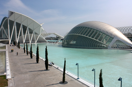 hemispheric: Spain, Europe, Valencia, City of Arts and Science, Calatrava, architecture, modern, Hemisferic, Palace of Arts