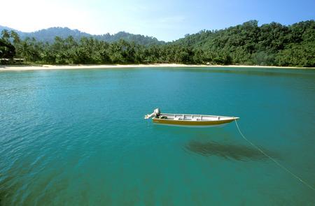 tage: Boat in Juara Beach, Tioman Island, Malaysia