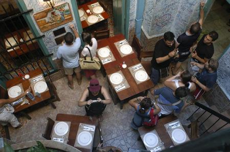 touristy: La Bodeguita del Medio is a typical restaurant-bar of Havana It is very famous & touristy for the personalities, La Habana, Cuba.