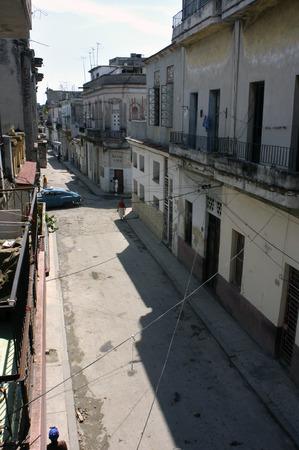 vieja: Buildings in poor condition in Havana Vieja, Cuba.