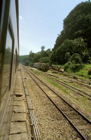 Jungle line train. Kota Bharu to Gemas line. Malaysia. East Coast Railway