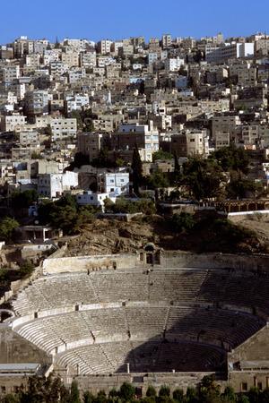 pius: Roman amphitheatre in Amman, Jordan. 2nd century AD Antonius Pius.