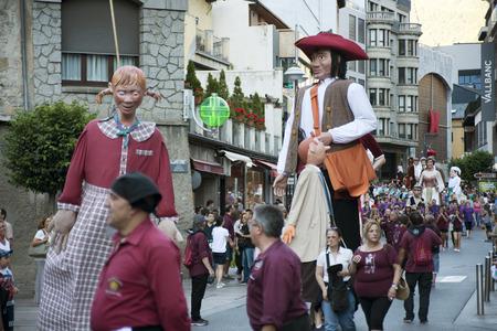 Traditional celebration of Giants and big headeds, Andorra la Vella, Andorra.