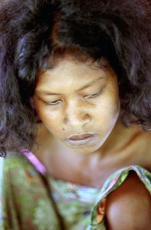 jah: Orang Asli tribe in Taman Negara National Park in central Malaysia. Woman portrait.