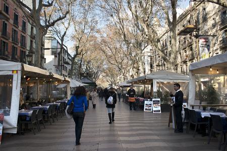 ramblas: Las Ramblas, Barcelona, Catalonia, Spain.