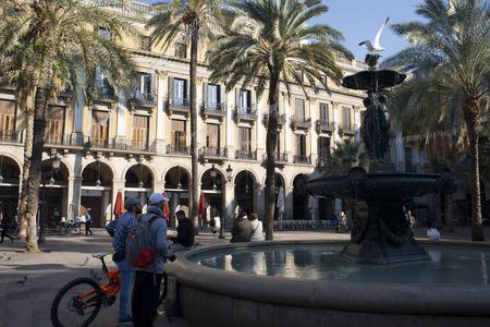 gotico: Plaza Real o la Plaza Real, Barrio Gótico, Barcelona, ??Cataluña, España