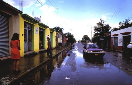 Zaachila city after rain, Oaxaca, Mexico
