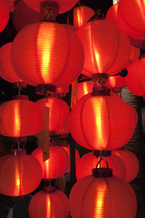 laterns: Lanterns at New Buddha Tooth Relic Temple and Museum, Chinatown, Singapore Editorial