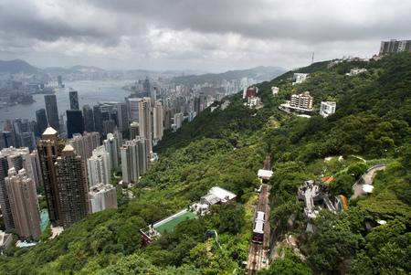 ifc: Hong Kong skyline. Panoramic view of Hong Kong and Kowloon from Victoria Peak Tower. Hong Kong, China, SAR Editorial