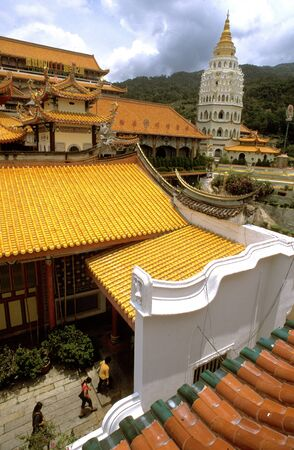 Pagoda at the Kek Lok Si (Temple of Sukhavati) Buddhist Temple, Air Itam, Penang, Penang State, Malaysia.