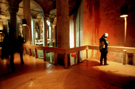 lake district: The Yerebatan Sarnici (The Sunken Cistern or Basilica Cistern), Sultanahmet district, Istanbul,Turkey