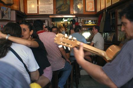 Love and live music in the bar at La Bodeguita del Medio in central havana, cuba. Cuba Havana La Bodeguita del Medio is a typical restaurant-bar of Havana It is very famous & touristy for the personalities