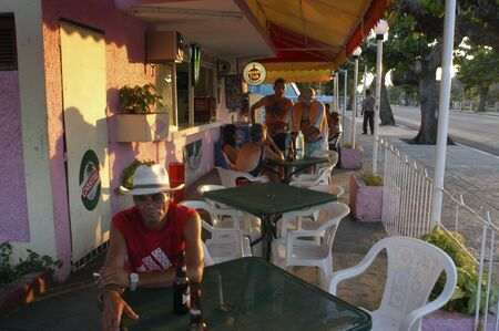 Local bar and restaurant in Varadero village, Cuba.