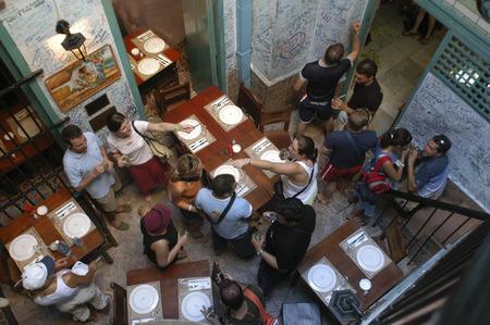 La Bodeguita del Medio is a typical restaurant-bar of Havana It is very famous & touristy for the personalities, La Habana, Cuba.