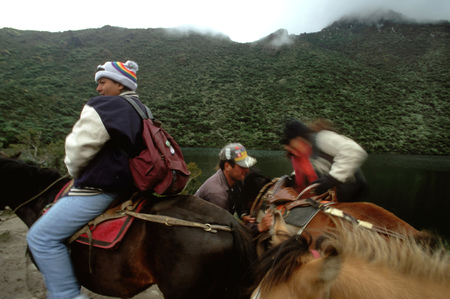 Horse ride in Laguna Negra near Apartaderos in Merida Venezuela