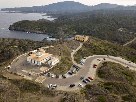 Norfeus cap, Creus Cap Natural Park, Costa Brava, Girona, Spain / Cabo Norfeus, P. Natural Cabo de Creus, Costa Brava, Girona Editorial