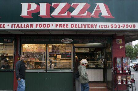 USA New York Pizza Restaurant Manhattan New York City NYC Editorial