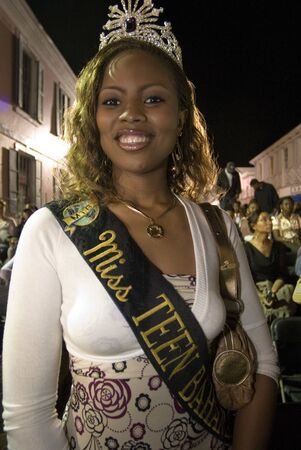 Carnaval del Junkanoo. Bay Street, Nassau, New Providence Island, Bahamas, Caribbean. New Years Day Parade. Boxing Day. Costumed dancers celebrate the New Year with the Junkanoo Parade on January 1. Editorial