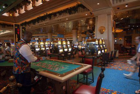 Casino in Hotel Atlantis. Paradise Island, Nassau, New Providence Island, Bahamas, Caribbean. Panorama of Atlantis hotel and Paradise island.