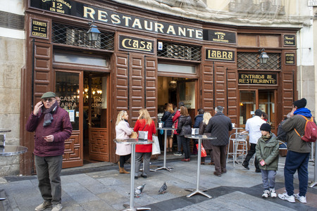 Casa Labra restaurant (1860 - where the Spanish Socialist Party was formed) in Calle de Tetuan in old town center of Madrid, Spain