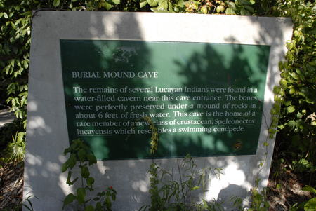 BAHAMAS, Grand Bahama Island, Eastern Side: Lucayan National Park, Sea Cave Interior. Burial Mound Cave Editorial