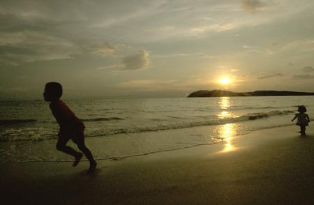 Sunset in Cenang Beach, Langkawi Island, Kedah, Malaysia. Editorial