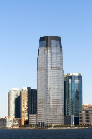 Skyline of Exchange Place at Jersey City, New Jersey, New York USA Banco de Imagens