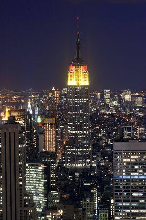 Vistas de Lower Midtown con el Empire State Building de Manhattan, Nueva York, EE. Editorial
