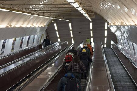 One of the Prague subway tunnels . The Prague Metro (along with trams and buses ) is the most used means of transport in Prague .