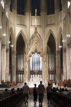 Inside St Patrick's Cathedral, 5th Avenue, Midtown Manhattan, New York City USA