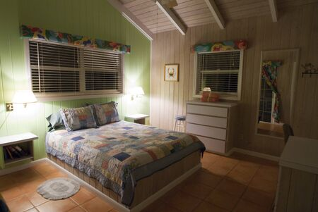 Inside a typical loyalist house, Hope Town, Elbow Cay, Abacos. Bahamas