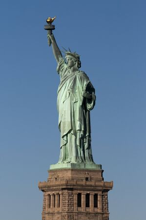 Statue of Liberty, Liberty Island, New York City, New York. Statue of Liberty. It was built in France thanks to thousands of individual donations and sent it divided into 350 parts packed in 214 crates. The statue was designed by Frederic-Auguste Bartholdi to, in his words,