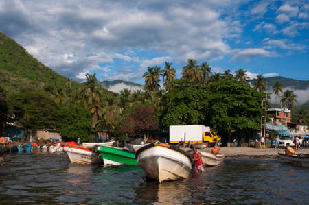 Choroni harbour in Falcon state in Venezuela - Henri Pittier National Park, in Venezuela.  It presents a big touristy interest, by being one of the starting points towards the islands of Morrocoy National Park, together with Tucacas. There, you can hire t Redakční