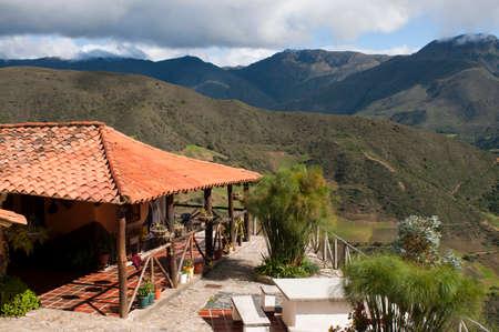 Posada Bella Vista in Los Nevados village in andean cordillera Merida state Venezuela. Los Nevados, is a town founded in 1591, located in the Sierra Nevada National Park in Mérida, Venezuela Editorial