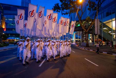 Singapore National Day Parade at the Marina Bay Waterfront platform