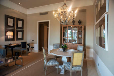 Inside a room in Finca Cortesin hotel in Málaga Costa del sol Andalusia Spain