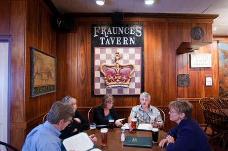 Historic Fraunces Tavern, lower Manhattan, New York City, USA.