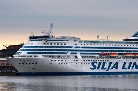 Ferry-boat of the Silja Line docked in Helsinki Finland
