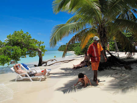 Cayo Sombrero, a little island in Caribbean Sea in Chichiriviche in Falcon state in Venezuela - Morrocoy National Park, in Venezuela.  It presents a big touristy interest, by being one of the starting points towards the islands of Morrocoy National Park,