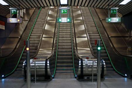 Inside subway, Helsinki, Finland. One of the entrances to subway Helsinki.