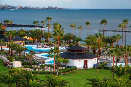 Pool of Hotel Riu Palace Tenerife La Caleta Resort & Spa Costa Adeje Tenerife Island, Canary Islands, Spain Editorial