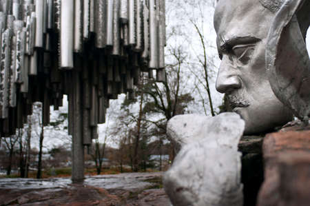 Detail Image of the Sibelius Monument in Helsinki, Finland. Helsingfors, Sibelius Monument, Monument Dedicated to Composer Jean Sibelius Editorial