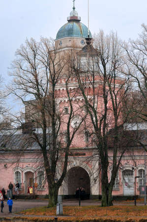 Suomenlinna church in the island of Suomenlinna Sveaborg, Helsinki, Finland.