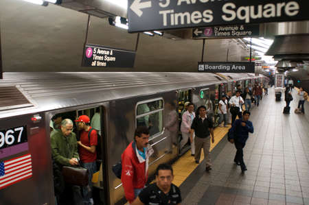 The A train New York subway line, New York City, America, USA